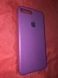 Capa roxa para iPhone 7 e 8 plus