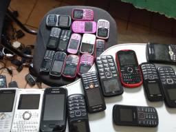 Lote com 25 celulares antigos