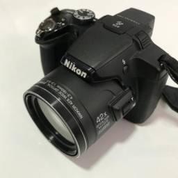 Camera Nikon p510 semi profissional com 42x de zoom