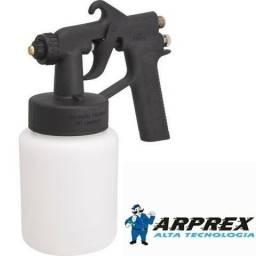 Pistola / pintura c/caneca plástica, tipo sucção, ar direto, 90, Arprex( Novo)
