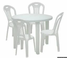 Barbada! Mesa e 4 cadeiras Tramontina