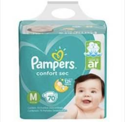 Fralda Pampers Confort Sec Bag P M G Com 70 Unidades