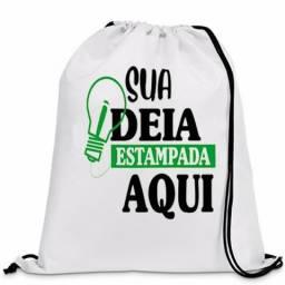 Mochila Esportiva Sacola Ecobag Tipo Saco de Tecido
