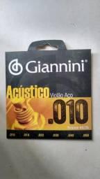 Encordoamento Giannini Violão aço 010