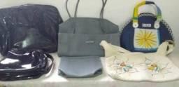Lote de bolsas e necessaire