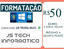 Formatação de notebooks e computadores com garantia