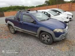 2009 Strada Adventure Azul Completa TOP!! Espetacular!! HenriCar Troca & Financia até 60x