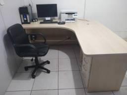 Mesa em L para escritório 100%MDF