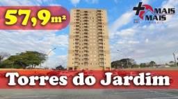 TORRES DO JARDIM com varanda e ponto para ar condicionado 57,9m²