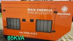 Gerador Stemac 85KVA, diesel/MWM, ano 2016 ? Novíssimo