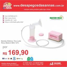 Bomba de Leite Elétrica Matern Milk Rosa 127v