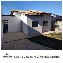 Título do anúncio: Casa com 3 quartos no Bairro Pousada Del Rey, Igarapé-MG.