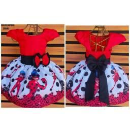 Título do anúncio: Vestido Temático Ladybug Tamanho 6