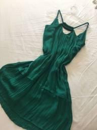 Vestido verde - shoulder PP
