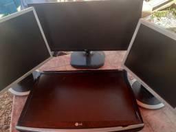 Lote com 4 monitores Com DEFEITO vendido no ESTADO
