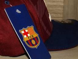 Boné Barcelona - Padrão original (Vermelho c/azul)