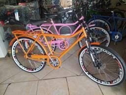 Bicicleta Monark com freio a disco Nova