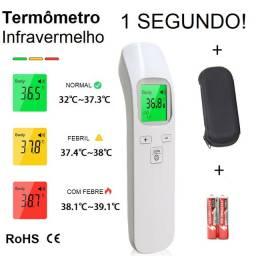 Termômetro Digital Infravermelho 1 Segundo Testa ou Pulso com Case e Pilhas