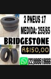 PAR DE PNEUS 17 255/65 BRIDGESTONE