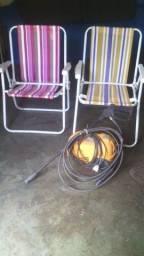 Título do anúncio: Cadeira de alumínio dobrável
