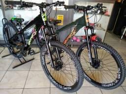 Bicicleta Gios Evo (Nova) Suspensão com trava,Aros V.max