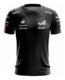Camiseta F1 Alpine França Fórmula 1 Esporte Preto Camisa
