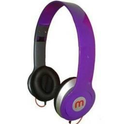 Fone de ouvido headphone com fio - cor preta