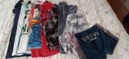 Lote ou individual roupas infantil tamanho 8