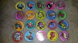 80 tazos Ping Pong coleção completa animais em extinção, perfeitos