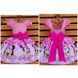 Título do anúncio: Vestido Temático Minnie Baby Tamanho 1.