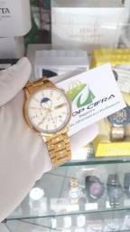 Relógio Original Nibosi Todo funcional de Aço inoxidável > Em até 12x nos cartões