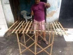 Barraca de madeira pra feira