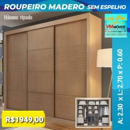 Título do anúncio: Raça Guarda-Roupas Madero com espelho Só Hoje Entregamos e Parcelamos no Cartão