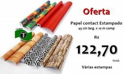 Título do anúncio: Papel Contact Estampado 45 cm larg. x 10 metros