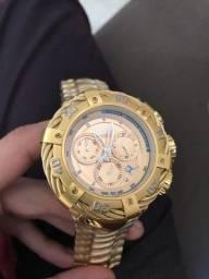 Relógio Masculino Banhado a ouro 18k