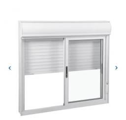 Janela com persiana automática/ janela automática