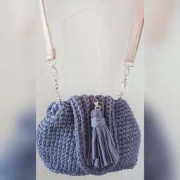 Título do anúncio: mochila de crochê em fio de malha