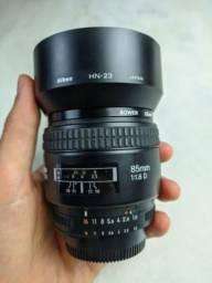 Lente Nikon Nikkor 85mm Af-d / Com Parasol, Tampas E Filtro