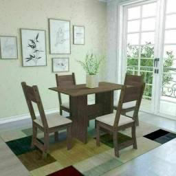 Título do anúncio: Conjunto mesa de jantar Luiza com 4 cadeiras em 12 x sem juros !
