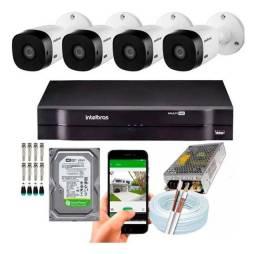 Título do anúncio: Tecnoar.....kit com 4 cameras intelbras instalada