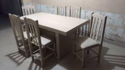 Título do anúncio: Mesa com 6 cadeiras entrego no local, ler anúncio