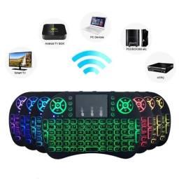 Título do anúncio: Mini Teclado e Mouse sem fio, Fazemos Entregas! Led Controle Sem Fio P/smart Tv, Tv Box