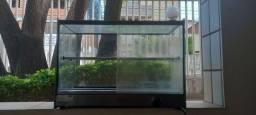 Estufa para salgados 8 bandejas duplas vidro reto