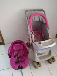 Bebê conforto Voyage e carrinho Galzerano