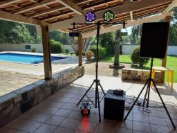 Kit festa de Som e iluminação profissional