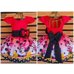 Título do anúncio: Vestido Temático Minnie Tamanho 1.