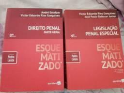 2 livros de direito penal