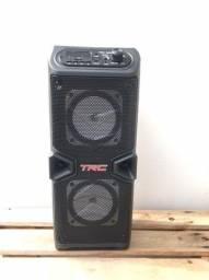 Caixa De Som Portatil Bivolt Bluetooth Usb 60w Trc-5506
