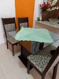 Título do anúncio: Mesa De Vidro com 4 cadeiras - 80×80