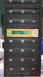 Duplicadora De Dvd e Cd Com 7 Gravadores